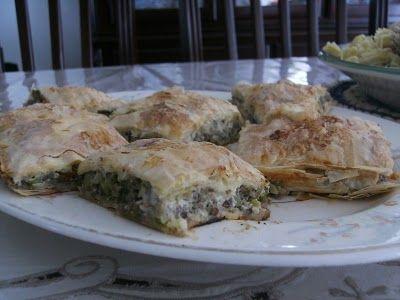Beef and Vegetable Bourek