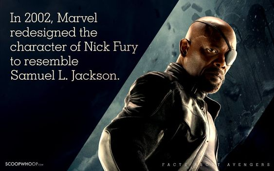 In 2002, Marvel redesigned the character of Nick Fury to resemble Samuel L. Jackson.