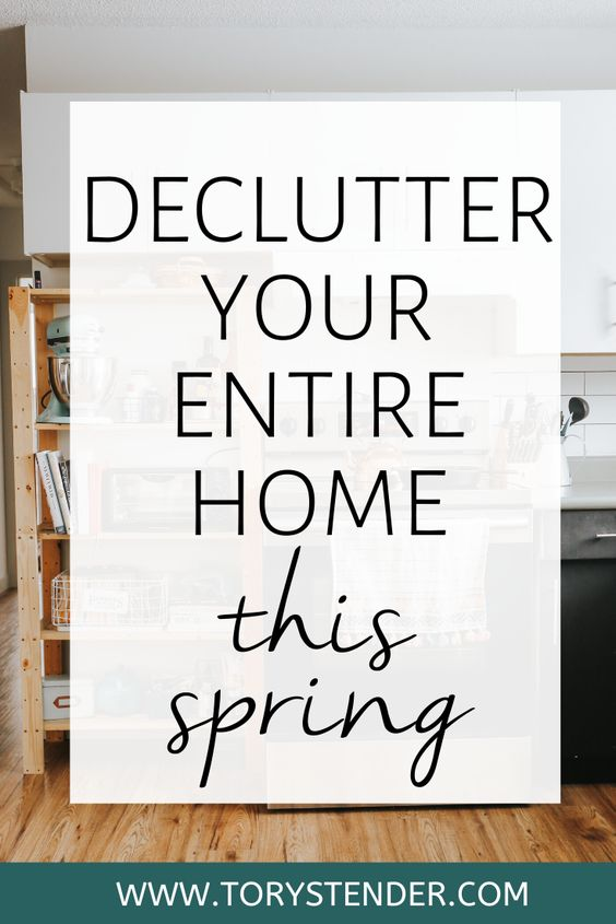 How to declutter your entire home this spring / How to declutter your whole house in a weekend / beginner guide to decluttering your entire house / complete guide to declutter / declutter your whole life / how to get rid of stuff / declutter hacks for people who struggle with hoarding / how to start decluttering when you're feeling overwhelmed / declutter your entire home checklist / minimalism for beginners / minimalist lifestyle for beginners
