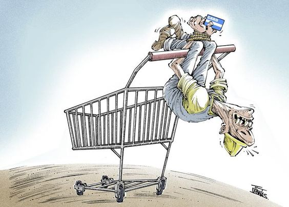 A tortura do consumismo...: