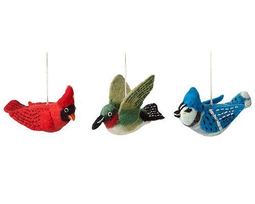 FELT BIRD ORNAMENTS | Handmade Felt Holiday Decorations | UncommonGoods