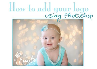 How to add your LOGO or text to a photo using Photoshop.
