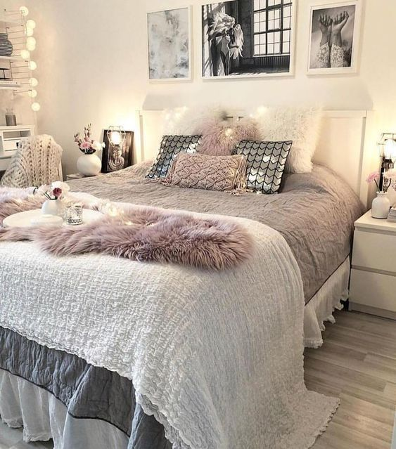 54 Awesome Decoration Ideas To Make Your Bedroom Cozy And Warm Minimalist Bedroom Decor Sabbychic Cozy Bedroom Cozy Bedroom Warm Bedroom Decor Cozy Warm bedroom ideas pinterest