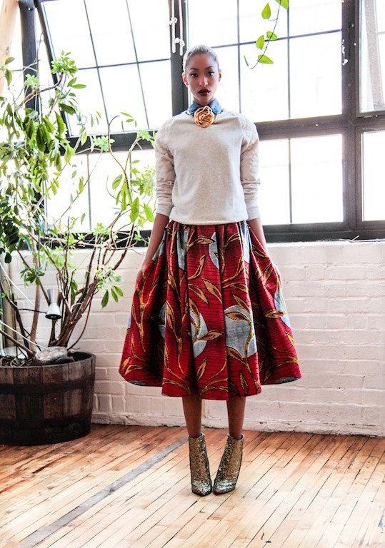 Full Midi Skirt With Pockets