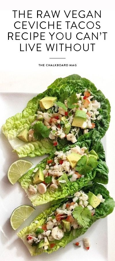 The Avo restaurant in Nashville serves up raw, vegan food fit for a city that takes its food pretty seriously. This vegan ceviche taco recipe is a perfect example of what they do best.
