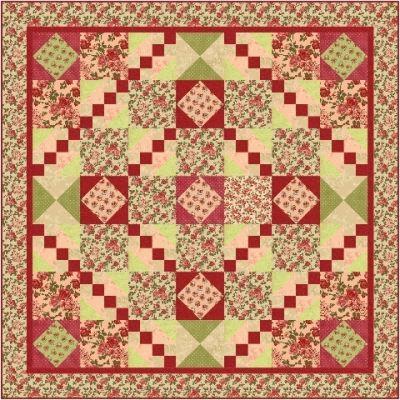 Rosie Red Road Quilt Pattern FHD-124