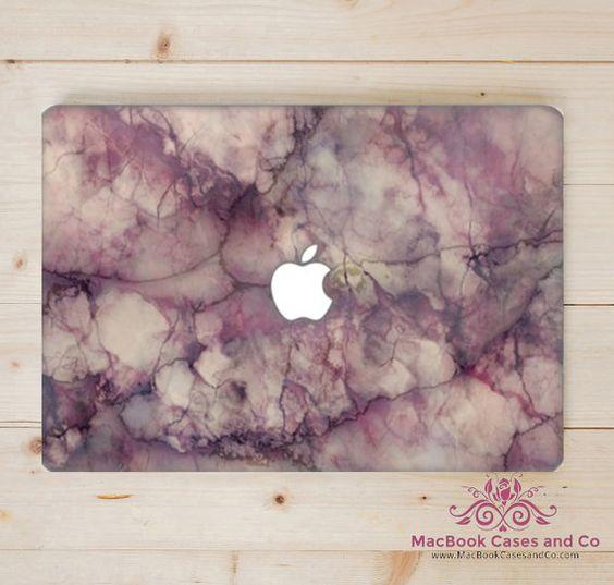 Purple Marble MacBook Case. New Premium by MacBookCasesandCo
