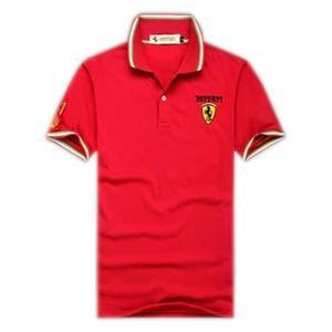 Polo Ferrari hommes en coton brodé de revers un Polo t