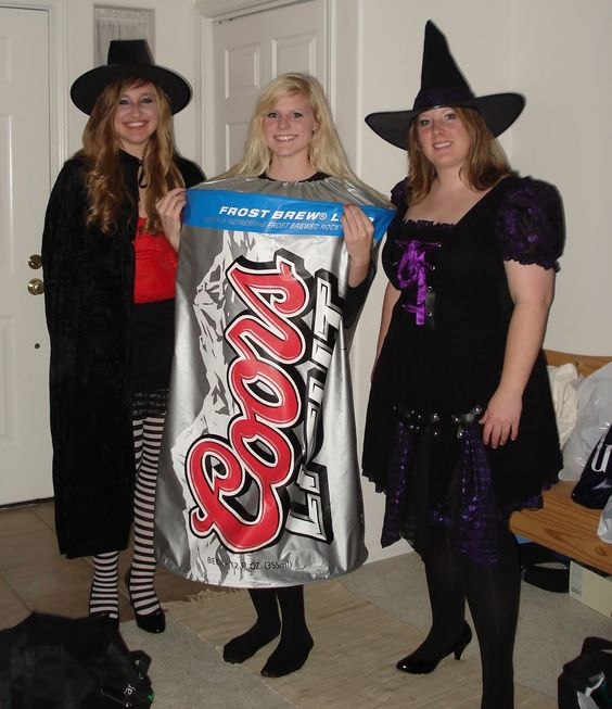 Coors Light Beer Can And Witches Easy DIY Halloween Costumes DOTD