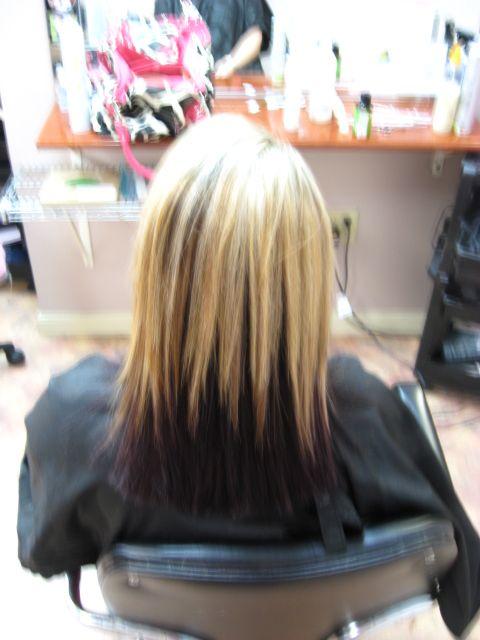 Blonde And Dark Purple Underneath Our Very Own Salon
