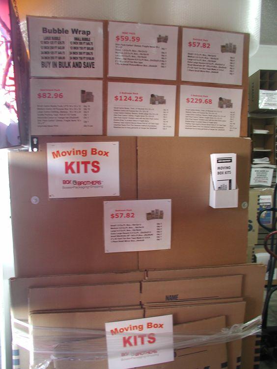 Moving Box Kits.