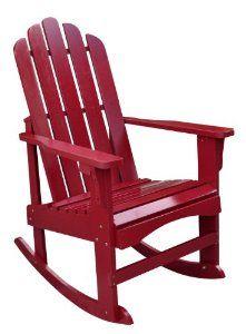 Amazon.com: Shine Company Marina Porch Rocker, Cherry Red: Patio, Lawn & Garden