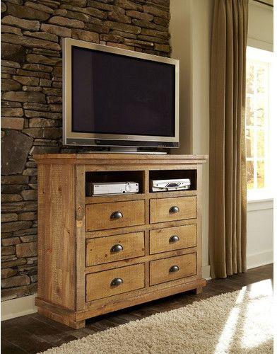 Progressive Furniture Willow 6 Drawer Media Chest