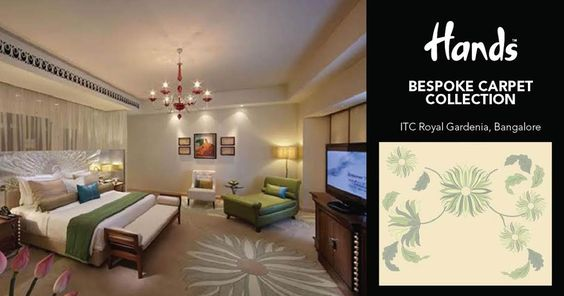 When it comes to a luxury hotel like ITC Royal Gardenia Bangalore, more than anything the customers take back with them sweet memories. The floral beige carpet spread on the floors of these bedrooms give more than just warmth, perhaps a homely feeling. Visit: http://hands-carpets.com/bespoke #handscarpets #carpets #bespoke #collection #accessories #furnishings #hotels #luxuryliving #luxuryhotels ITC Royal Gardenia ITC Gardenia, Bangalore