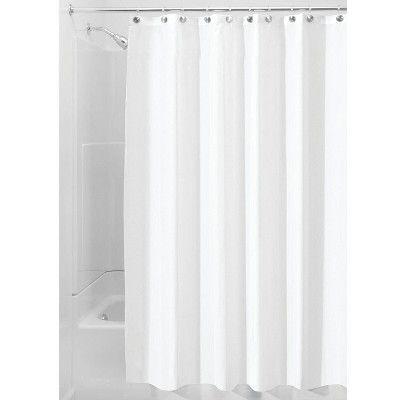 Interdesign Waterproof Polyester Shower Curtain Liner Fabric