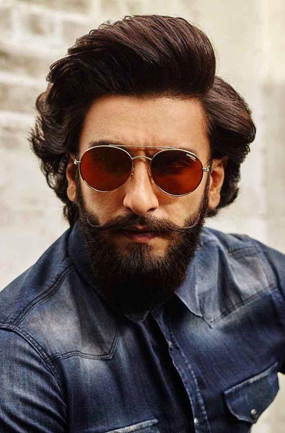 Trending Beard Style Ranveer Singh Hairstyle Ranveer Singh Beard Beard Styles
