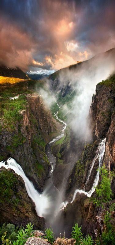 Vøringfossen waterfall, Eidfjord, Norway