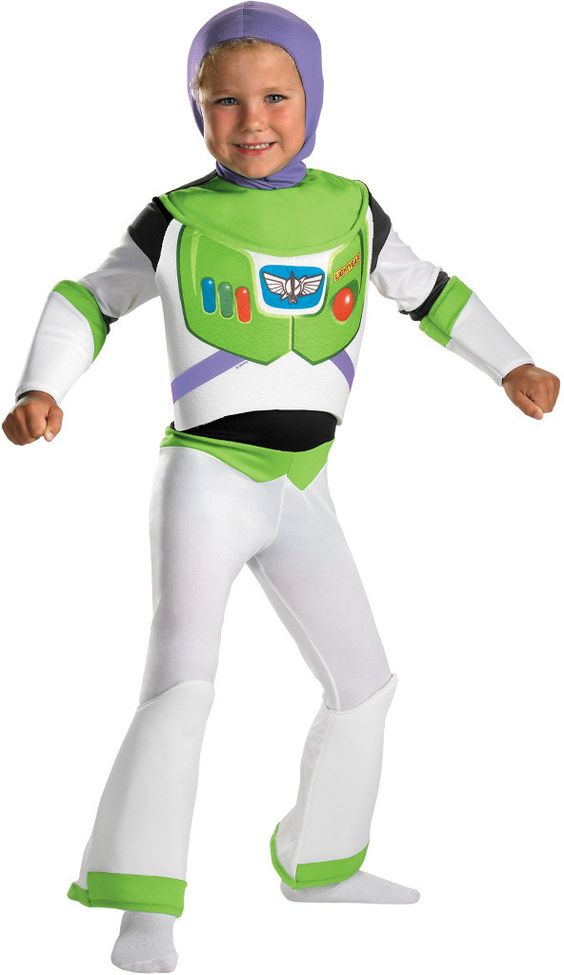 toddler boy's costume: toy story buzz lightyear deluxe   3t-4t