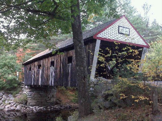 1860s covered bridge, Andover, Maine.. This bridge is down the road from my aunts house