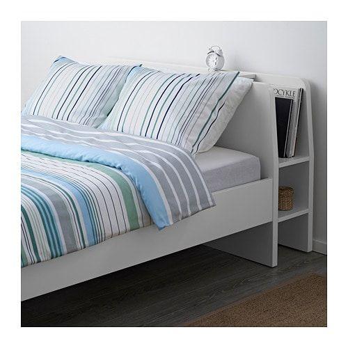 Askvoll Kopfteil Mit Ablage Weiss Ikea Deutschland Bettgestell Bett Lagerung Ikea