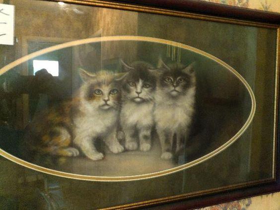 Found on EstateSales.NET: original chalk or pastel signed art piece