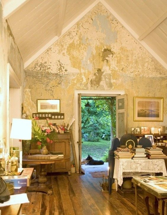 Rustic Plaster Wall Finish Island Outpost Murals And