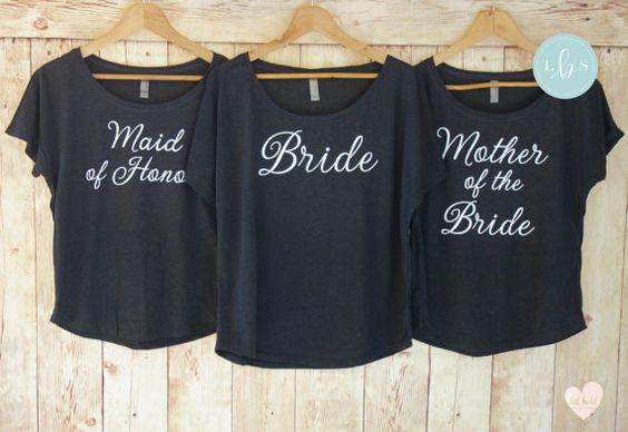 Brautjungfer Shirts - Dolman die Schulter - Bachelorette Party Shirts - Shirt Braut Hemd - Wifey Shirt - Bridesmaid Gift - Braut Geschenk