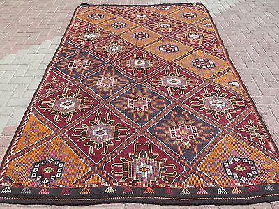 Anatolia Turkish Antalya Nomads Kilim 70,8 x 116,9 Area Rug Kelim Carpet
