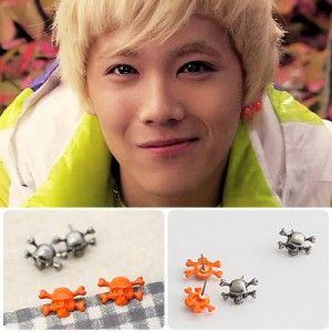 [FTISLAND Style] Antic Skull Earring(Hong-ki)  Price: $6.00 on Kstargoods.com (The best kpop shop)