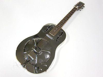 Gold Tone Steel Metal Resonator Acoustic Electric Dobro Guitar & Case Paul Beard - http://www.dobroguitar.org/for-sale/gold-tone-steel-metal-resonator-acoustic-electric-dobro-guitar-case-paul-beard/31474/