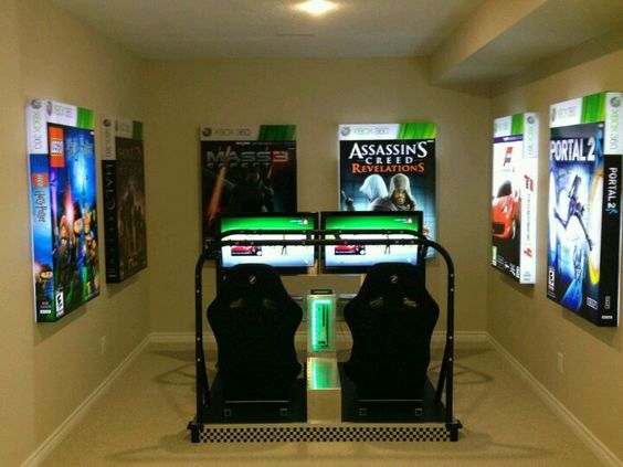 Amazing gamer room entertainment fun video games for Chambre gaming