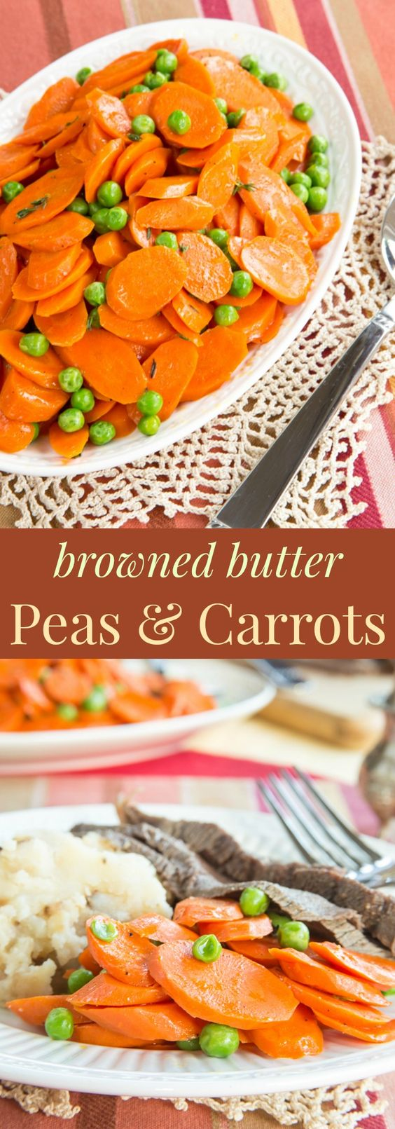 Browned Butter Peas and Carrots - a simple way to add incredible flavor to this basic vegetable side dish recipe without a lot of fuss. Quick, easy, healthy, and flavorful! | cupcakesandkalechips.com | gluten free, vegetarian