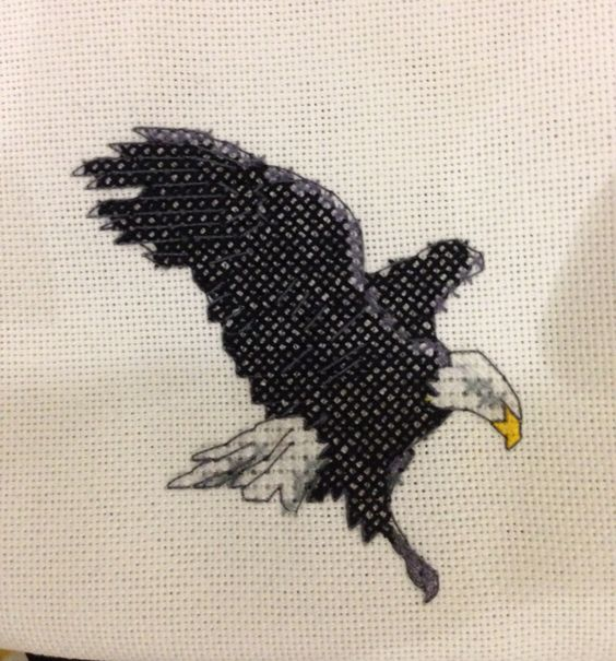Cross stitch eagle