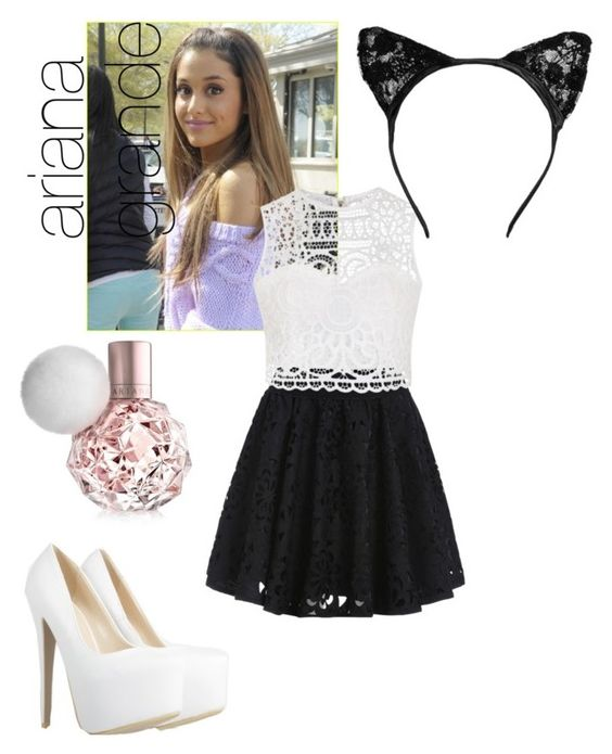 """""""ariana grande costume"""" by minticecream1010 ❤ liked on Polyvore featuring Ally Fashion"""