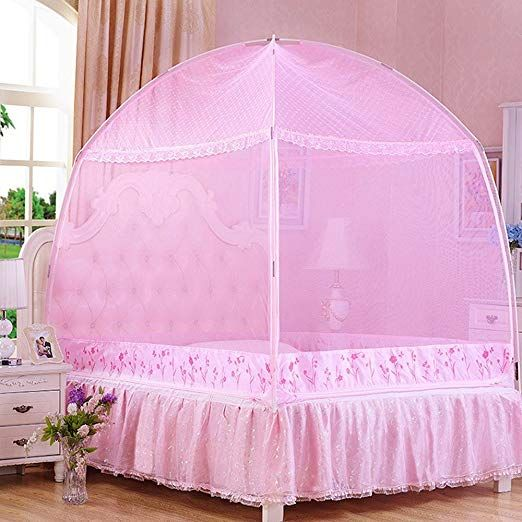 Cdybox Princess Mosquito Net Bed Tent Canopy Curtains Netting With Stand Fits Twin Full Queen In 2020 Bed Tent Pink Bedding Girl Beds