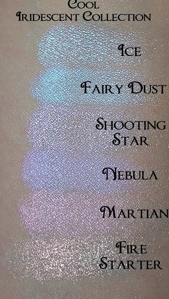 COOL Iridescent Eyeshadow Collection 6 Colors In A