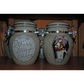 Nightmare before Christmas deadly nght shade jars: