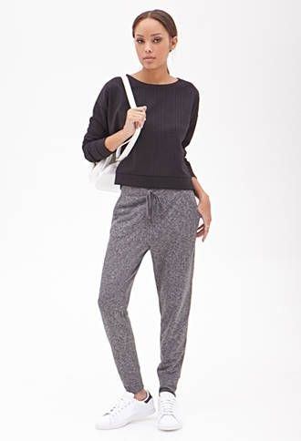 Heathered Drawstring Sweatpants | FOREVER 21 - 2000101524