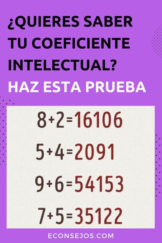 ¿Cuál es tu coeficiente intelectual? Haz el ejercicio: