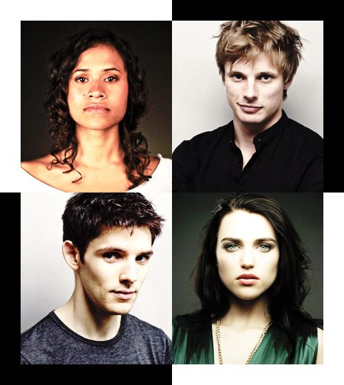 Angel Coulby, Bradley James, Colin Morgan, & Katie McGrath