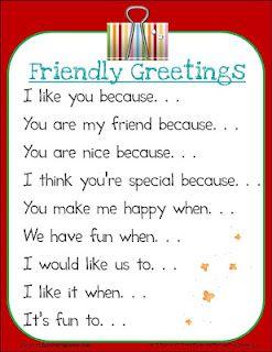 Fluttering Through First Grade: Friendly Greetings for class Message Center