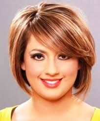 Hairstyles for Overweight Women with Round Faces