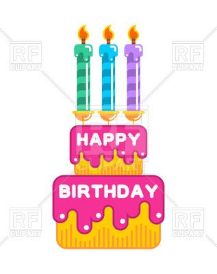 happy birthday cake with candles 166314 download royalty free rh pinterest com
