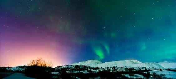Aurora Boreal, Kirkenes and Pas National Park bordering Russia..