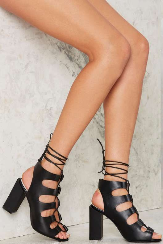 Jeffrey Campbell Be My Leather Lace-Up Heels - Festival Shop ...