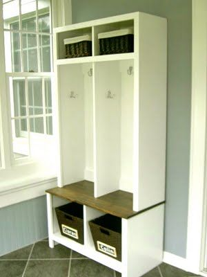 Would be cute by the back door or in a mud room laundry for Entryway lockers with doors