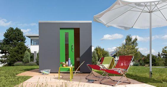 Design-Gartenhaus SCU als Schwörer Gartenhaus mit moderner Architektur im Würfel - #Schwoerer #Gartenhaus