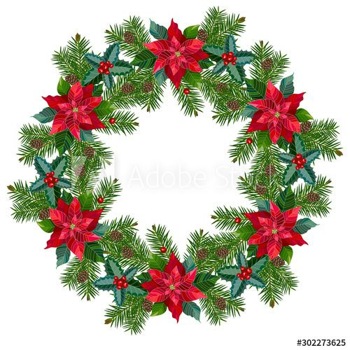 Wreath With Bright Flowers Aff Wreath Bright Flowers Ad In 2020 Winter Flowers Vector Flowers Bright Flowers