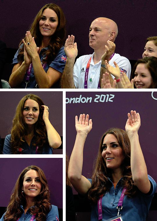 4 Years Ago Today: Catherine, Duchess of Cambridge, watches the Women's Handball Preliminaries Group A Match between Great Britain and Croatia on Day 9 of the London 2012 Olympic Games at the Copper Box August 5, 2012.