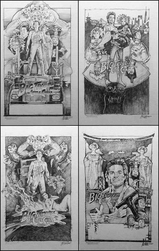 Drew Struzan Concepts for Big Trouble in Little China